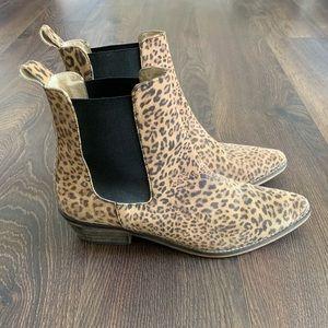 Shoes - Ivylee Suede Cheetah Booties
